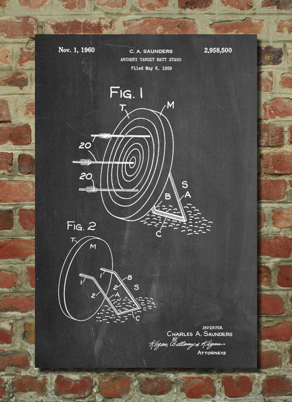 Archery Target Stand Poster, Archery Target Stand Patent, Archery Target Stand Print, Archery Target Stand Art
