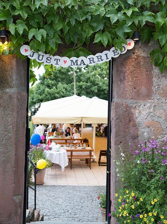 Just married girlande von renna deluxe just married garland, wedding garland, hochzeitsgirlande