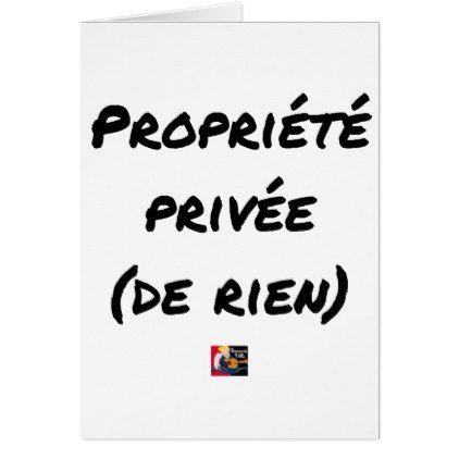 PRIVATE PROPERTY - Word games - François City Card - love cards couple card ideas diy cyo