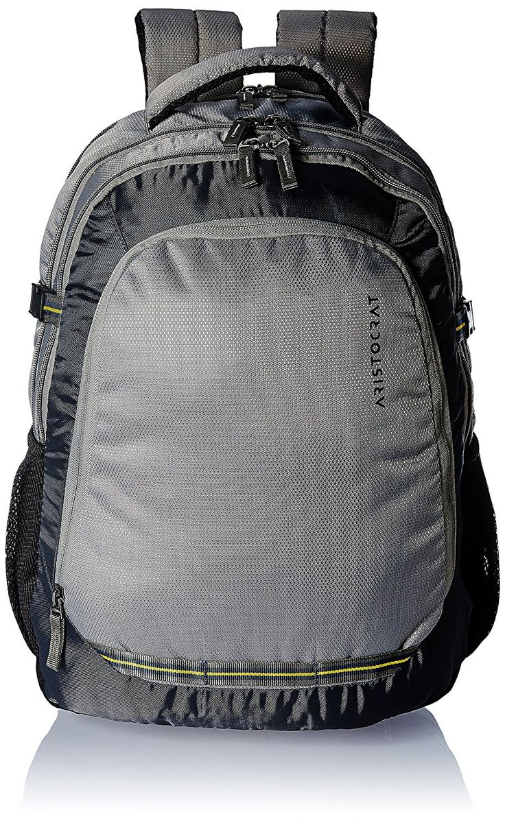 Laptop bags below 500 - Aristocrat Gusto Fabric 30 Ltrs Grey Laptop Backpack 20