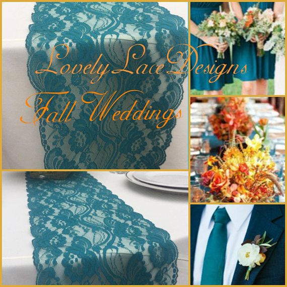 Hey, I found this really awesome Etsy listing at https://www.etsy.com/listing/248875509/tealgreen-lace-table-runner-3ft-to10ft