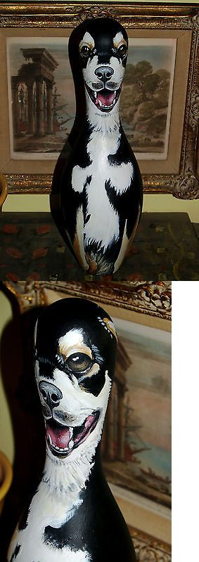 Bowling Pins 50811: Custom Order Painted Bowling Pin Dog Portrait Of All Breeds Of Dogs Cats Animals BUY IT NOW ONLY: $150.0