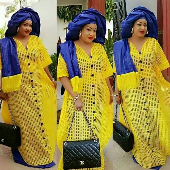 17 Meilleures Id Es Propos De Couture Senegalaise Sur Pinterest Robe Senegalaise Bazin