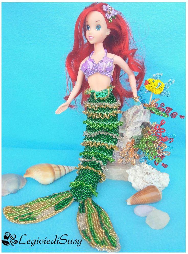 Ancora un abito per la Barbie stavolta il costume che le ho realizzato è quello di Ariel la principessa Disney.  Ho realizzato anche l'am...