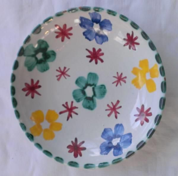 Elle keramikk skål håndmalt av KH