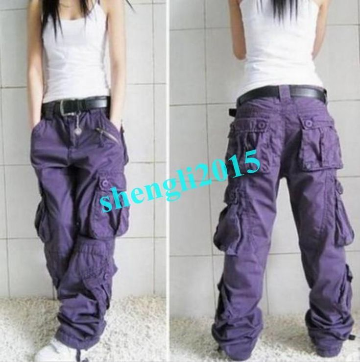 Womens Military Multi Pockets Cargo Leisure Overalls Trousers Outdoor Pants Hot