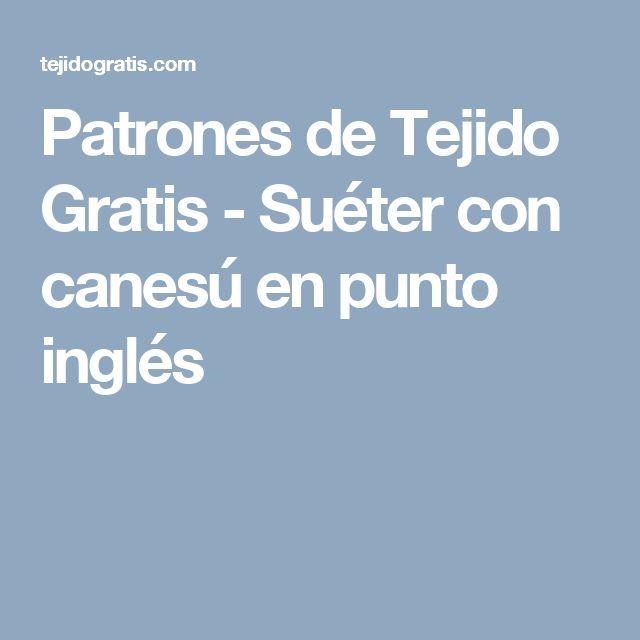Patrones de Tejido Gratis - Suéter con canesú en punto inglés