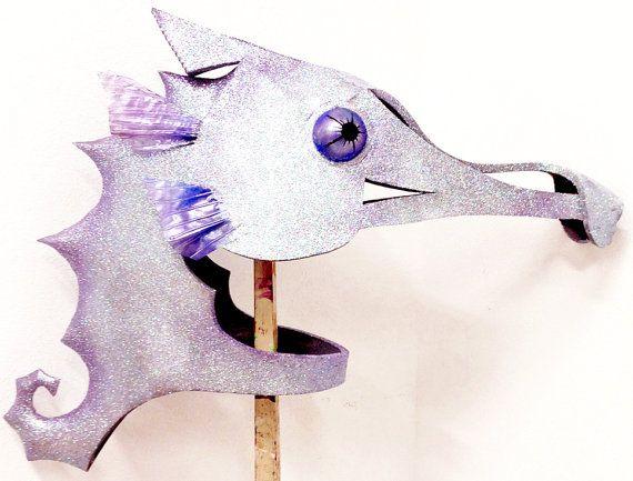Seahorse Mask. Handmade. Mermaid costume by TentacleStudio on Etsy