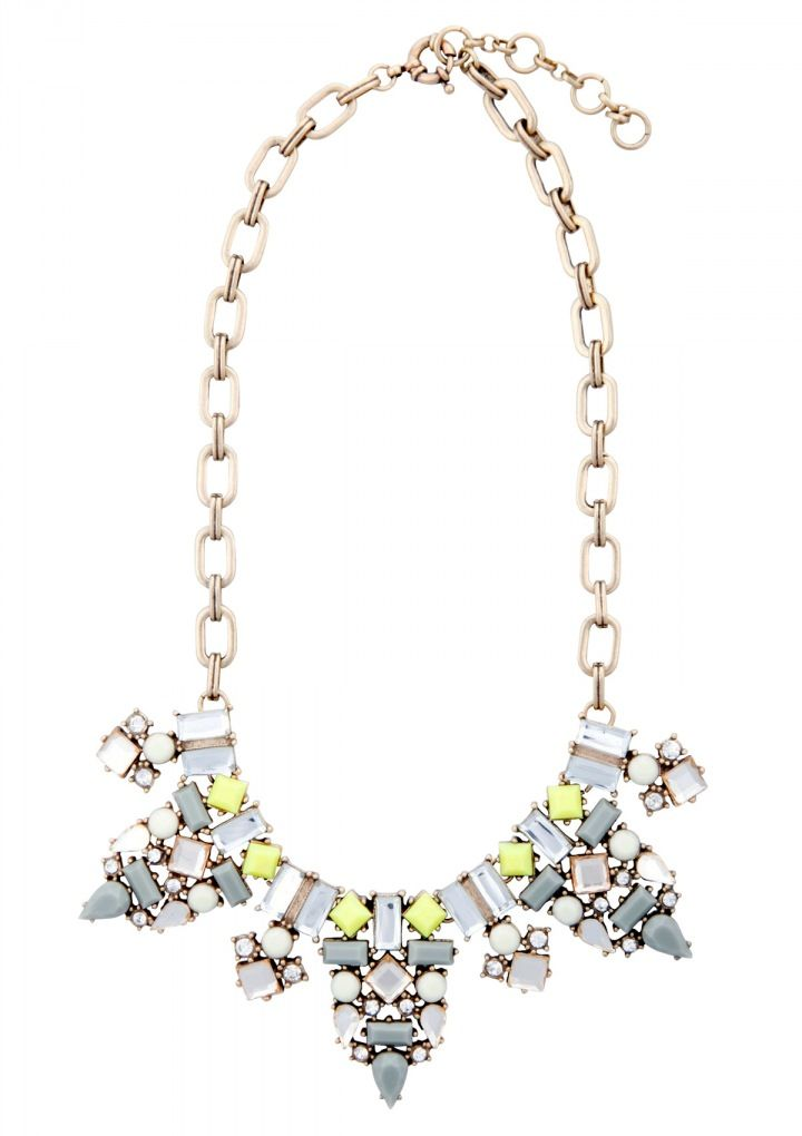 Be Beautiful Statement Necklace In Yellow 22,90€ #happinessbtq