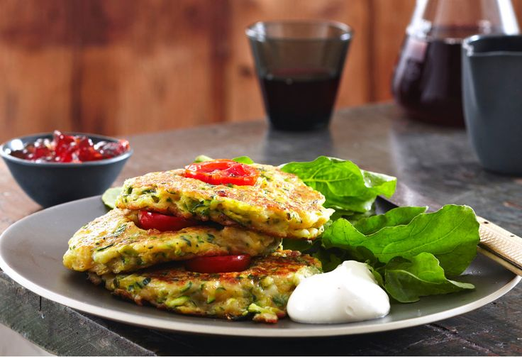 These tasty fritters make a great meal anytime of day.