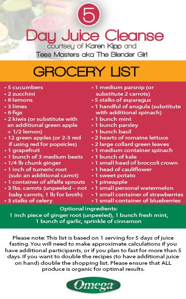 To start your #Healthy #Journey with the 5 Day Juice Cleanse, you will need your Grocery List! http://omegajuicers.com/recipes/recipe-type/5-day-juice-cleanse/