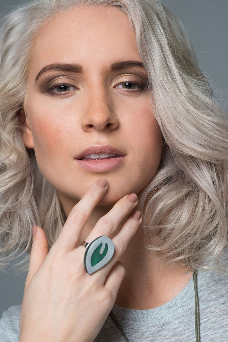 Riverstone ring - Green. Dramatic, and eye catching our Riverstone rings are simply stunning - perfect for any special occasion. They come in three styles and colours, and look stunning teamed with our Resin + Metal necklaces. They are adjustable width.