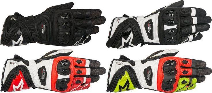 Alpinestars Mens Supertech Leather Riding Gloves