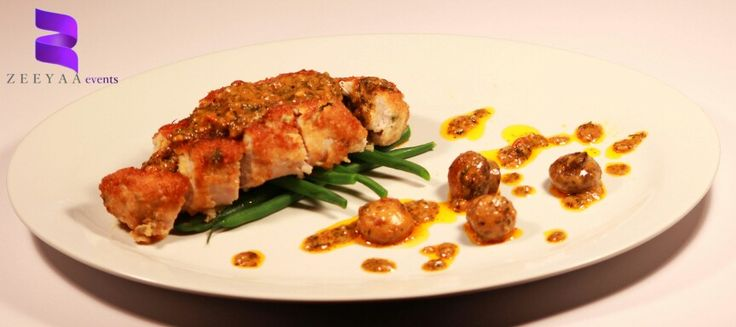Chicken breast stuffed with spinach and feta..
