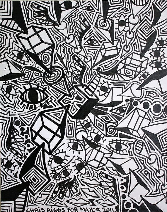 cubism black and white   ORIGINAL black and white abstract contemporary minimalism fine art ...