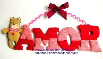 Cómo hacer letreros de amor para san valentín ~ cositasconmesh