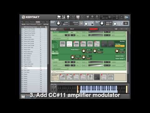 Adding MIDI CC #11 to Sample Libraries in Kontakt