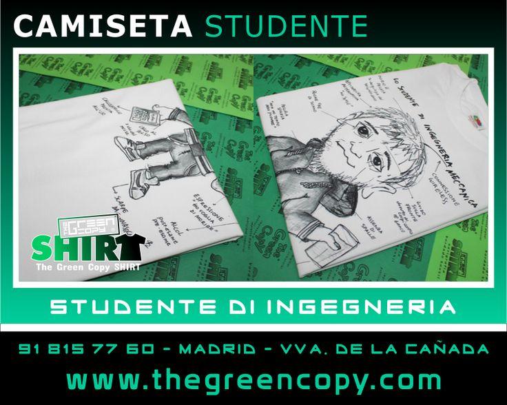 Impresión de Camisetas Personalizadas para Cumpleaños y Regalos en MADRID - Tienda de Serigrafía Textil - Camiseta Estudiante de Ingeniería