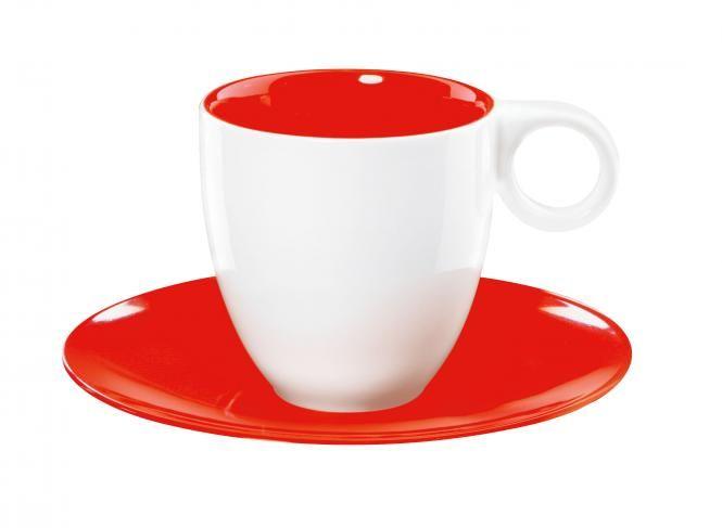 ASA Selection Colour it Espressotasse mit Untertasse rot