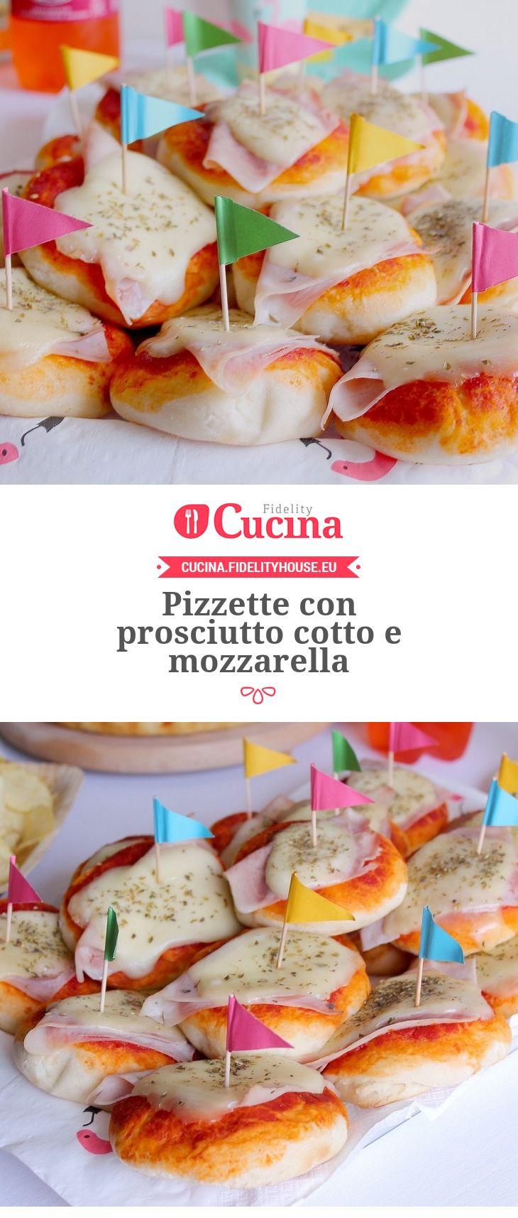 Pizzette con prosciutto cotto e mozzarella