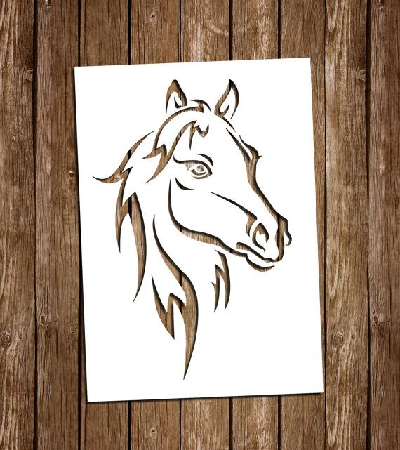 Horse SVG Cutting Files, PDF Paper Cutting Template, Horse Paper Cut Outs, Horse…