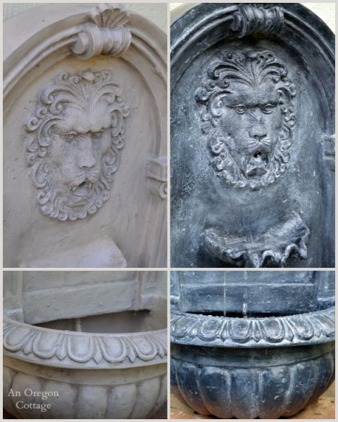 Diy aged fountain how to age faux stone faux stone oregon and