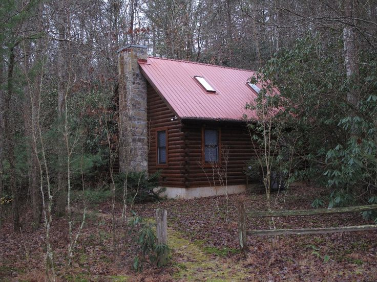 Secluded log cabin on creek near helen anna ruby falls Cabin creek 15