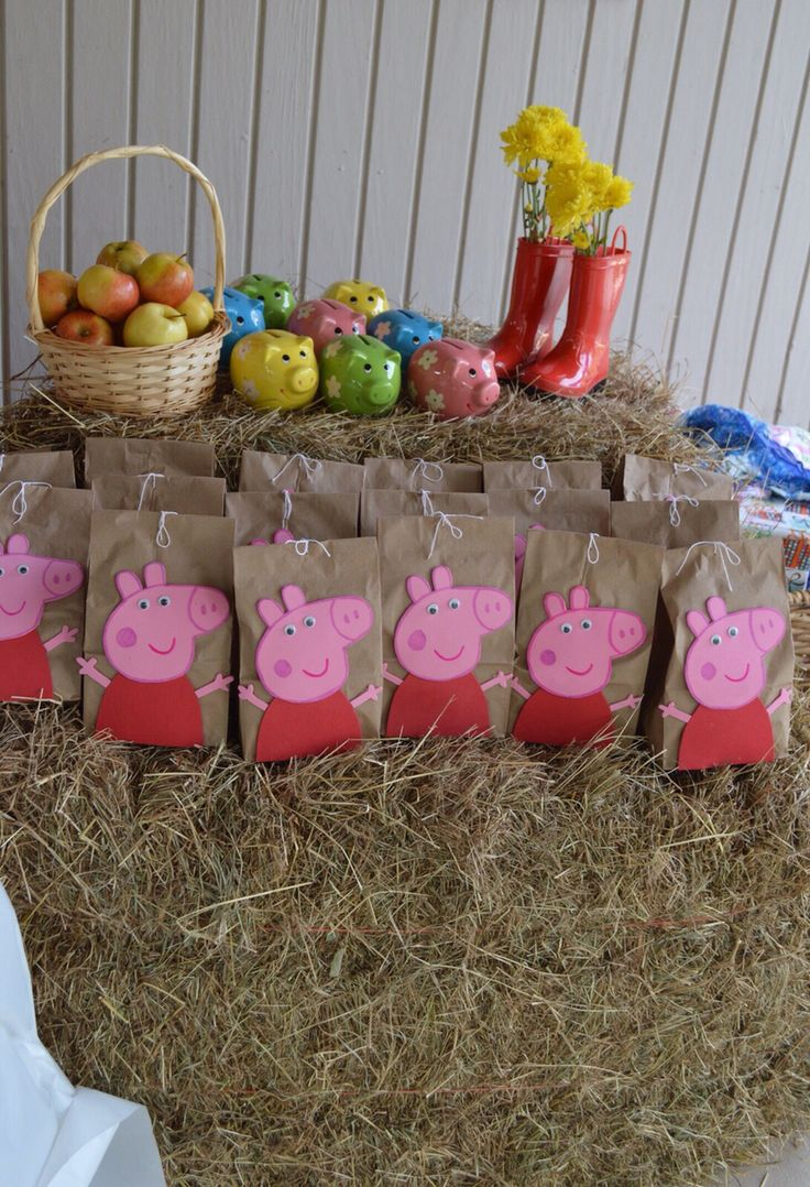 peppa pig candy bags