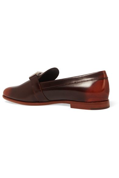 Tod's - Burnished Leather Loafers - Brown - IT38.5