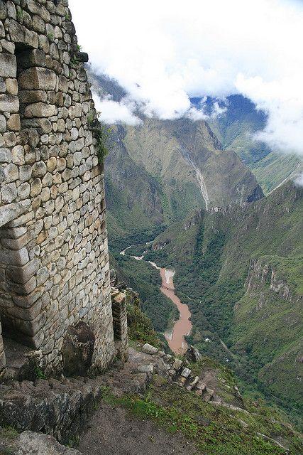 Macchu Picchu and the Urubamba river below. Peru.  images of an Amazing Machu…