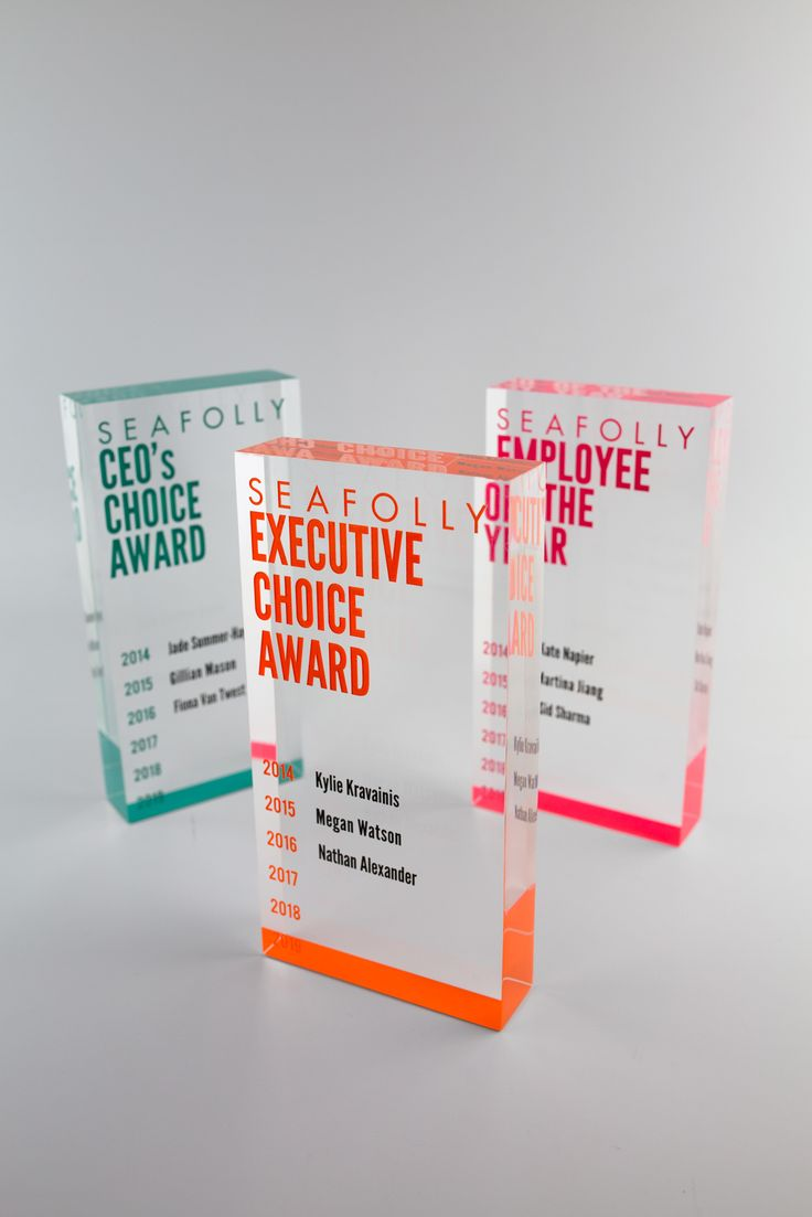 Seafolly Perpetual Trophies | Design Awards | #custommade #colorful #awards