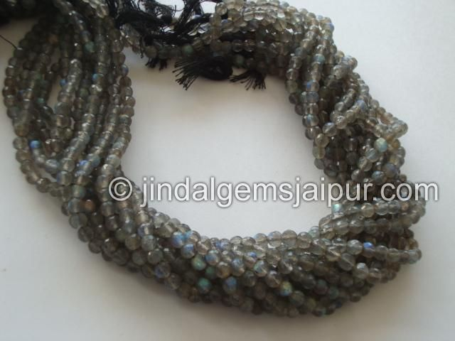 Labradorite Faceted Round Gemstone Beads.