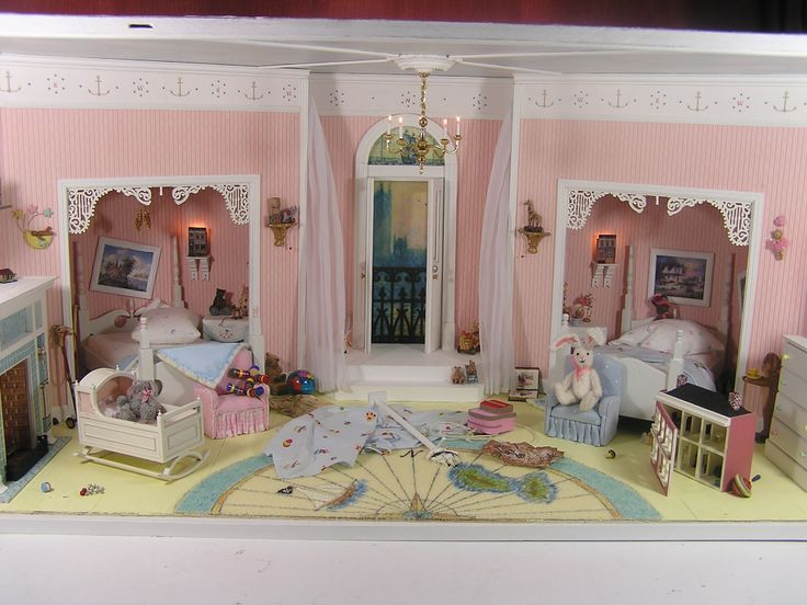 12 SCALE MINIATURE ROOMBOX BASED ON THE CHILDREN'S ROOM FROM THE MOVIE HOOK