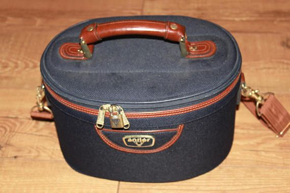 Blue Vanity Case for Travel by Antler Luggage of London