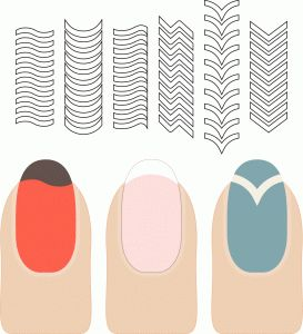 Silhouette Online Store: french manicure tip guides