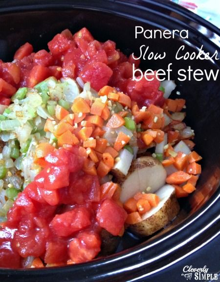 Panera Slow Cooker Beef Stew recipe!  Delicious!