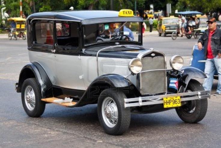 Classic Ford January 15,2012 in Havana.