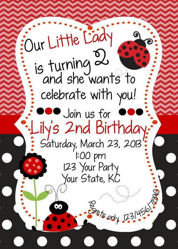 Red & Black Ladybug Birthday Invitation by WhooosHavingAParty