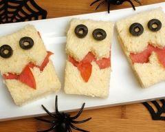 Mini sandwichs barjos d'halloween au saumon fumé Ingrédients