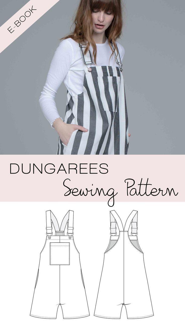 Sewing Pattern Pdf Dungarees Pinafore Dress Bib Skirt For Women And Girls English Skirt Patterns Sewing Sewing Dresses Simple Dress Pattern [ 1278 x 736 Pixel ]