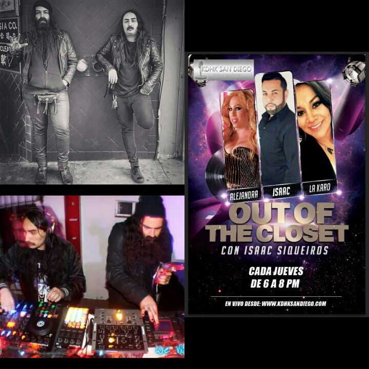 """OUT OF THE CLOSET"" Sintonizate hoy Jueves 4 de Febrero del 2016 de 6-8pm www.kdhksandiego.com  Invitados Especiales: Dave Parley y Josex ""LatinLovers"" mezclando en vivo  Temas: Qué no debes de hacer durante el sexo  Responderemos a unos de los correos mas controversiales."