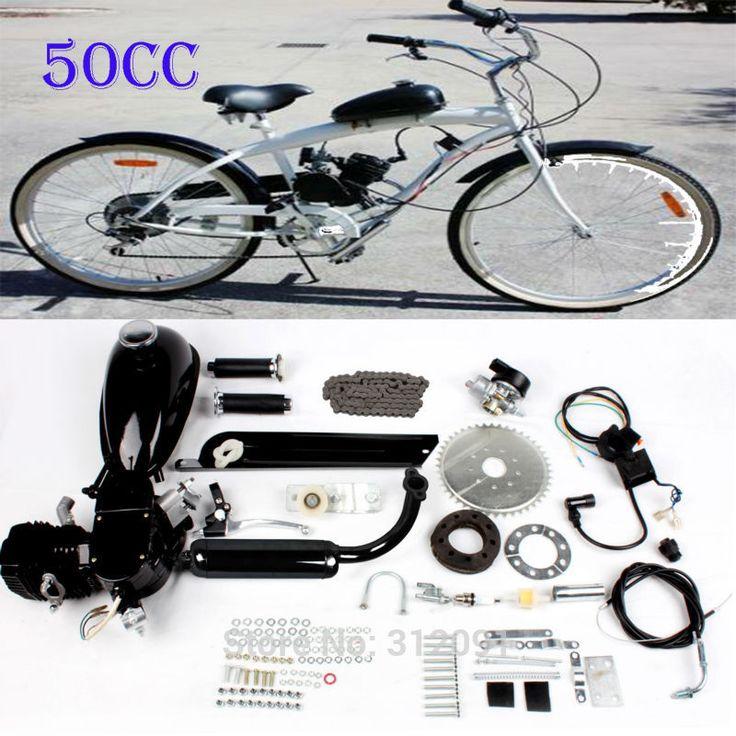 (Корабль из Германии) DIY 2 цикла бензин газа 50cc Двигатель ized велосипед Двигатель Велосипедный Спорт Двигатели для автомобиля комплект 2 ход ...