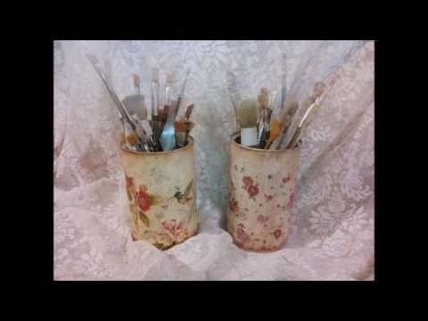 How to decoupage : Παλαίωση με ακρυλικα! Aging with acrylic colors! - YouTube