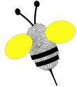 Children's Sunday School - Preschool Crafts - Bee Thumb-body with Jesus