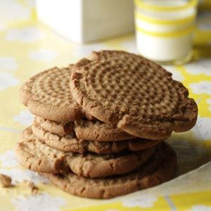 """Peanut Butter Cookies - I got this recipe from my """"Country Cooking"""" cookbook and they are called Grandma's Peanut Butter Cookies. This is my go to peanut butter cookie recipe, perfect amount of sweet and salty peanut butter taste. Some people said they would add more peanut butter, but I think they are perfect just the way they are. Enjoy!"""