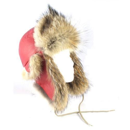 Chapeau aviateur en #fourrure naturelle de coyote / Coyote aviator hat for #winter in #natural #fur #madeincanada