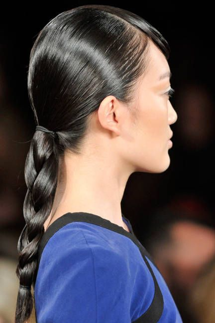 ...because a classic, glossy braid will be forever chic