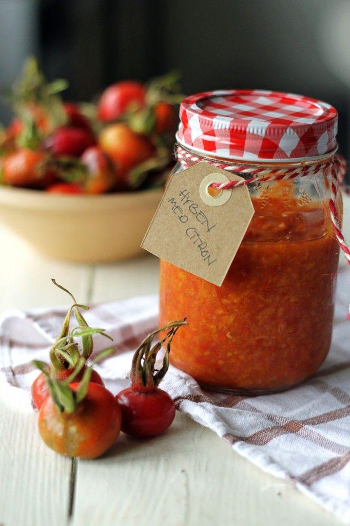 Homemade rosehip jam