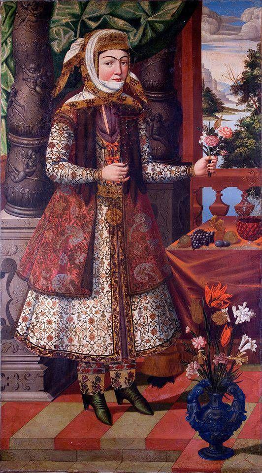 Armenian girl in Iran, late 17th Century, The Museum of Islamic Art, Qatar.