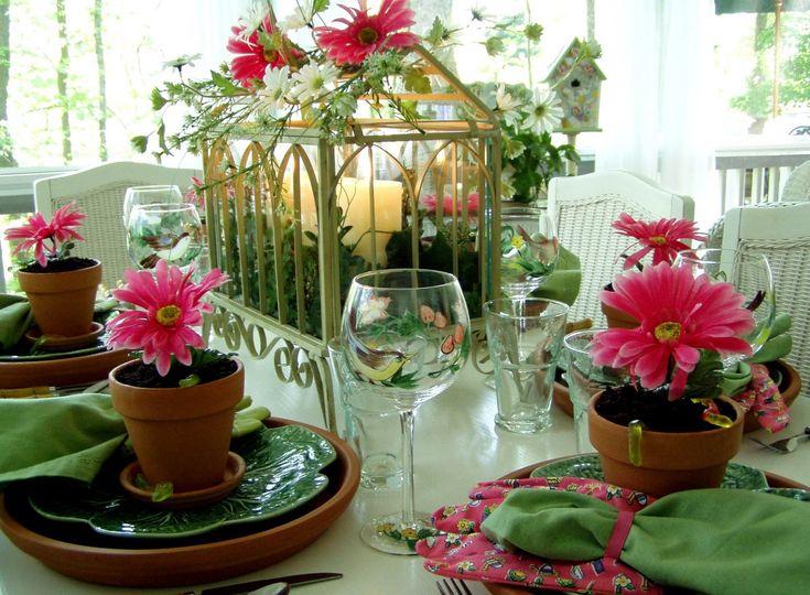 A Garden Party Table Setting
